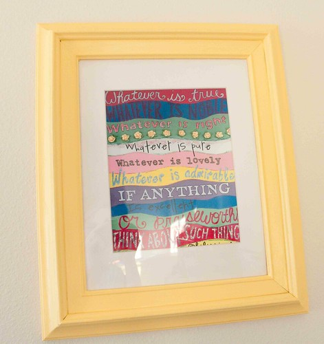 Phillipians 4:8 framed