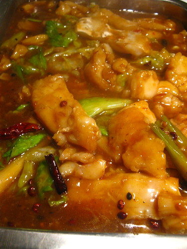 Boiled Fish Slices in Fiery Chiles and Sichuan Pepper Sauce 水煮魚