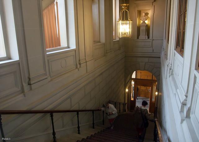 Très bel escalier, avec son tapis