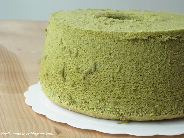 Green Tea Cake Recipe Japanese: Nasi Lemak Lover: Green Tea Chiffon Cake With Red Bean Cream