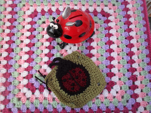 Just look at this cute Ladybird Square! For our Spring Challenge.