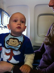 On the airplane again.