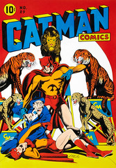 Catman Comics #29, cover re-creation by L. B. Cole, 1981 (Tom Simpson) Tags: lbcole illustration vintage art painting comics comicbook catman