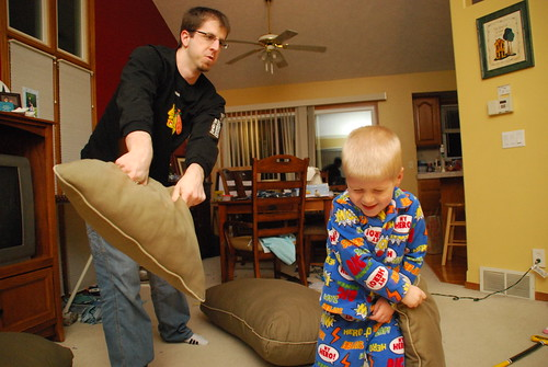 Father/Son Pillow Fight