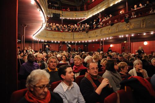 """Théâtre Dejazet lors de l'Université Populaire """"Crise de l'Euro..."""""""
