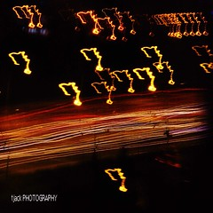 Light trail abstract (Troy Jack) Tags: road street light abstract lamp lines car speed lights nikon highway long exposure traffic bass streetlamp streetlamps trails headlights speeding clef taillights d60 18200mm