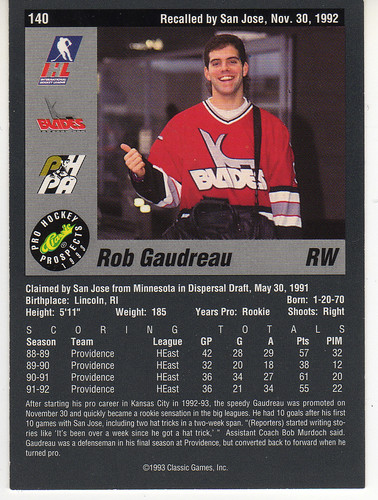 Rob Gaudreau 1- back