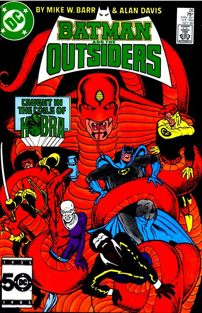 Batman and the Outsiders 26 1985 cover by Alan Davis