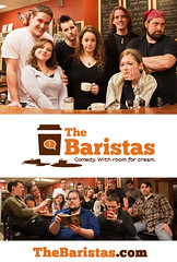 The Baristas: Poster Promo (TheBaristas) Tags: coffee promotion poster actors cafe funny comedy pittsburgh humor cast barista affogato