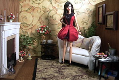 Well, what do you think? (Spicyfyre Creations) Tags: red brown fashion livingroom blackhair diorama outoftheblue jasonwu kyori fashionroyalty