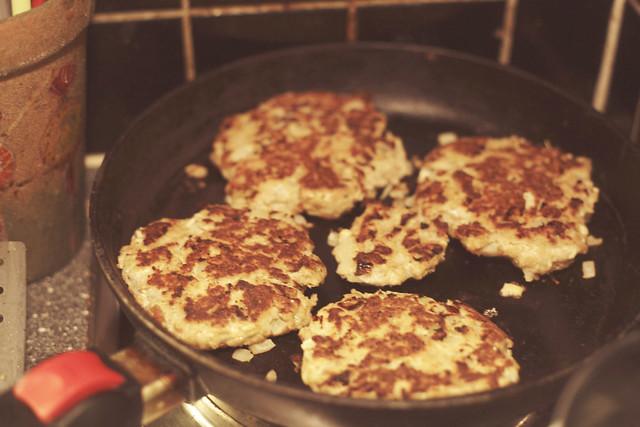 fish burgers.