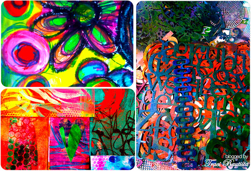 colorful paintings & my FAVE stencils