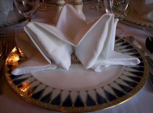 Club 33 napkin folds