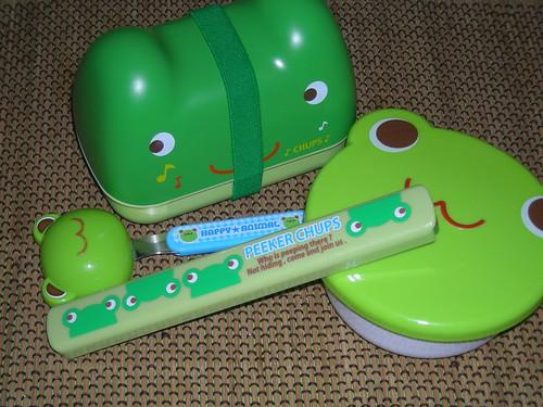 Omusubi Bento frog set