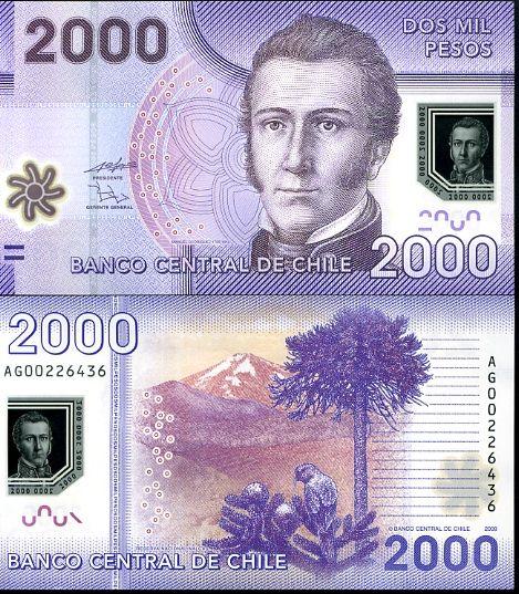 2000 Pesos Chile 2010, polymer