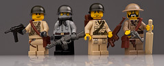 WW2 Allies (~Ghost Soldier~) Tags: world two war britain ghost american ww2 russian allies brickarms soldier2010