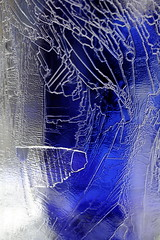 Blue Leaks (wout.) Tags: blue abstract ice canon frozen bottle leak efs60mm eos400d