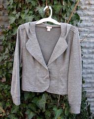 26 Grey hoodie sweater