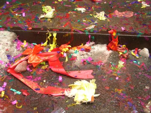 confetti debris