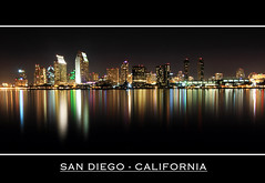 Yet another San Diego Downtown Skyline shot (sameermundkur) Tags: water skyline night reflections cityscape sandiego thechallengefactory