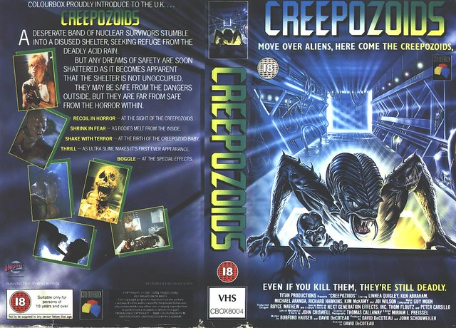 Creepozoids 1 (VHS Box Art)