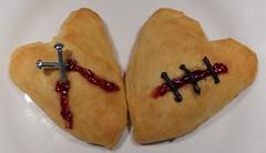 Edible Anti-Valentine's Day pastries