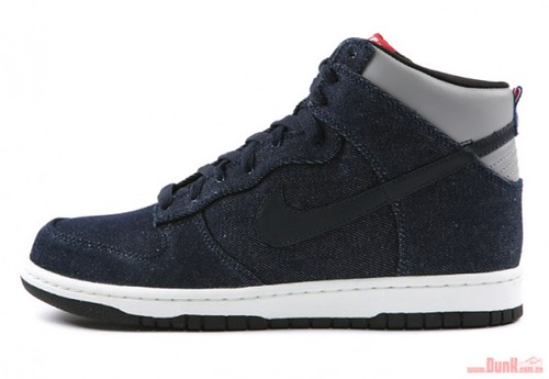 nike sportswear dunk high premium denim