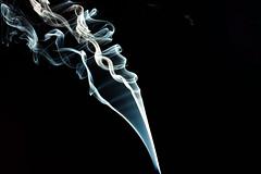 Smoke against Black #3 (vladdythephotogeek) Tags: flow smoke sony swirls curl alpha incense 2011 turbulant a550