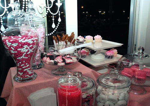 Barbie Themed Candy Buffet