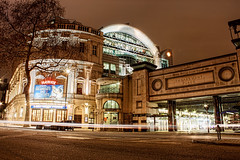 Embankment Place (TheFella) Tags: city uk england urban slr london digital canon landscape photography eos photo high europe dynamic theatre unitedkingdom processing lighttrails 1855mm dslr range conor charingcross hdr highdynamicrange embankment urbanlandscape pwc macneill embankmentplace postprocessing 500d pricewaterhousecoopers hdrs theplayhousetheatre thefella conormacneill dreamboatsandpetticoats fellafoto