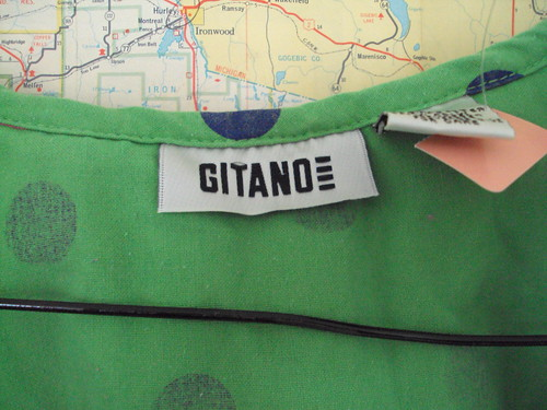 90's Polka Dot Crop Tie Top (Gitano tag detail)