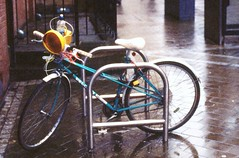 Custom Hog (Back, and to the left) Tags: film bike analog 35mm kodak recycled roadworks leeds slide olympus 50mm14 creativecommons learning grainy custom expired ektachrome zuiko peugeot om4ti p1600 autaut flickr:user=backandtotheleft tumblr:user=thediaryofadisappointingman
