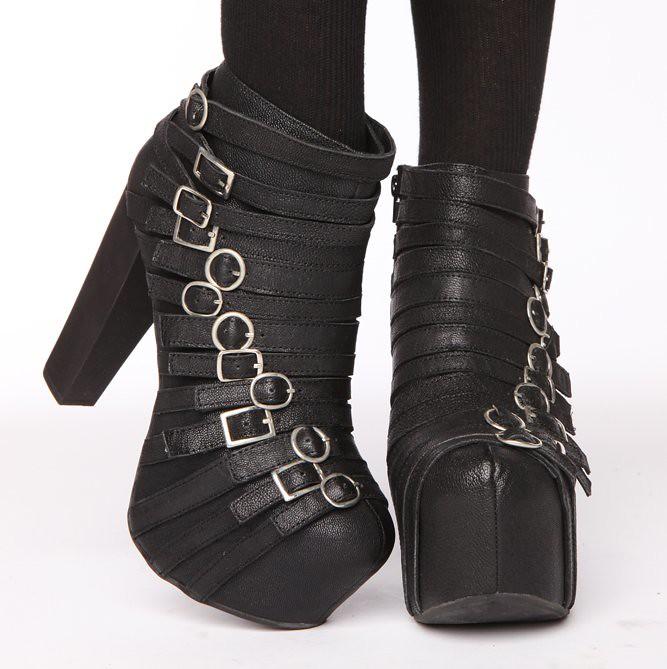 jeffrey campbell Wrecker platform boots