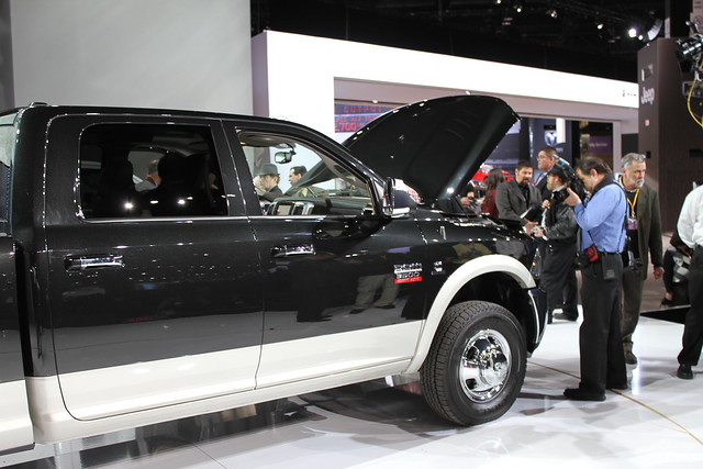 auto show chicago place diesel pickup trucks hd ram mccormick 3500 2011