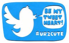 Be My Tweet Heart! Valentine (supercoolspyclub) Tags: blue paper valentine cutpaper tweet twitter hashtag