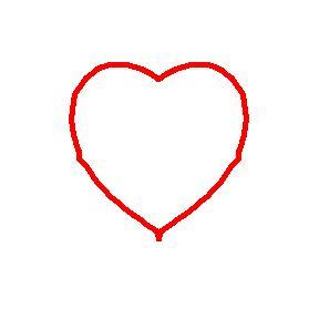 Corazón con borde rojo