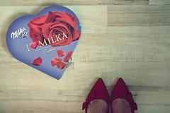 Powalentynkowo 6/52 Hearts (Dusiowa) Tags: red hearts boots valentines milka 652