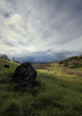 Anchored (Mahnie) Tags: storm northerncalifornia landscape weeds rocks cloudy ominous wideangle walnutcreek lowdown greengrass canon1740l shellridgeopenspace canon5dmarkii