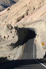 Straight DOWN! (Queen_Lexa) Tags: vacation desert deathvalley geology desertcolors mojavedesert artistspalette artistpalette roadcurve artistsdrive artistdrive desertgeology roaddip