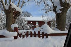Old orphanage Sweden (Ankar60) Tags: old winter house snow building vinter gate sweden cottage swedish smland orphanage sverige grind sn hus svensk smrgsbord gammalt vimmerby byggnad svenskt barnhem knabbarp