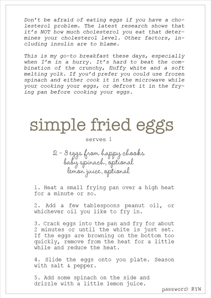 fried eggs recipe