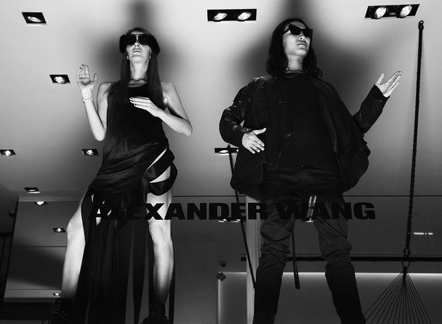 Alexander Wang and Anna Dello Russo at the new Alexander Wang store now open at 103 Grand Street.