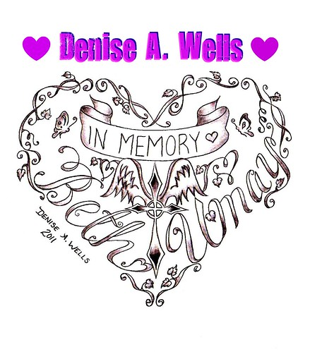 Memorial Heart tattoo design by Denise A. Wells