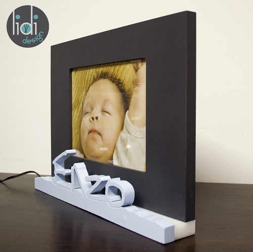 Personalized name frame with LED light