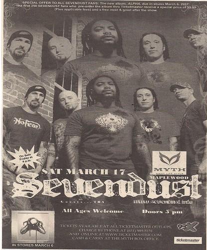03/17/07 Sevendust @ Maplewood, MN