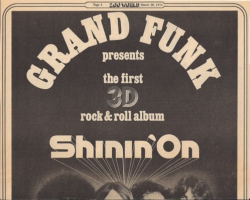 03/21/74 Grand Funk Shinin' On Tour Ad (Top)