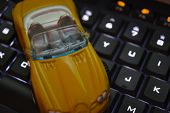 Y is for Yellow (mrelster) Tags: yellow y toycar logitechkeyboard