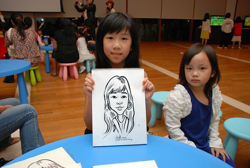 caricatrue live sketching for Arthur & Maria wedding dinner - 9
