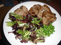 Lamb with lettuce & peas