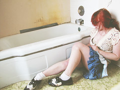 (bellydnce1103) Tags: house selfportrait abandoned girl bathroom illinois bathtub rockford machesneypark